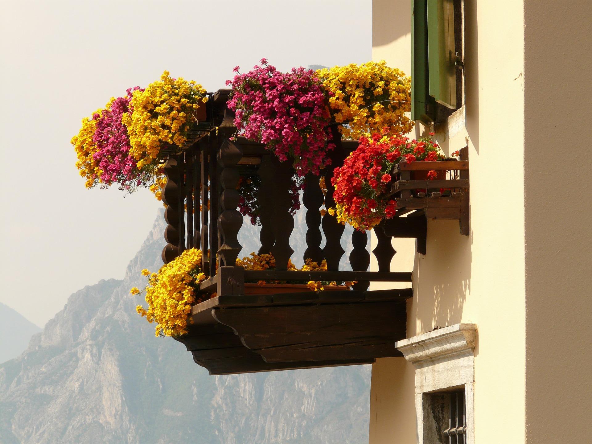 Настроение. декор. балконы в цветах, mylove.ru.