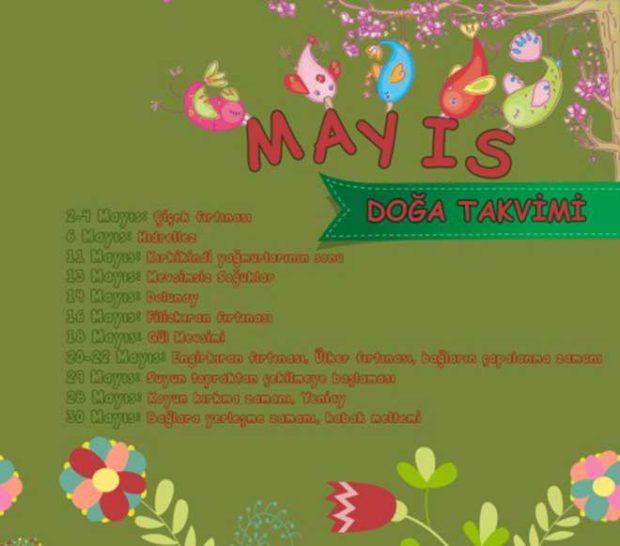 Mayıs Doğa Takvimi
