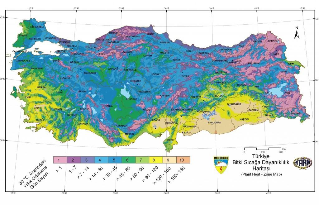 Bitki Sıcağa Dayanıklılık Haritası