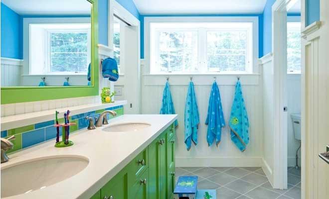 Çocuklu Evler İçin Banyo Dekorasyonu