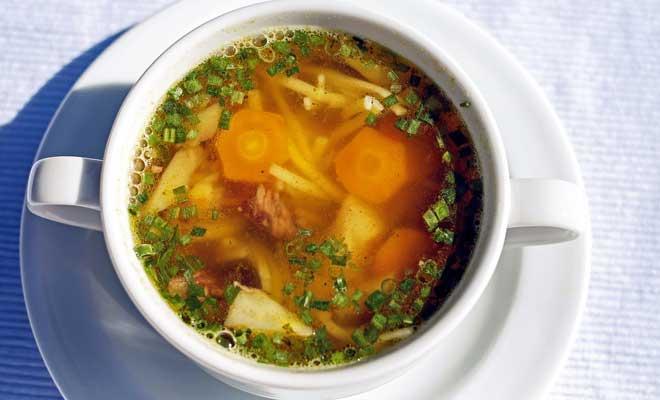 Kerevizli Sebze Çorbası