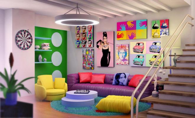 Pop Art Tarzı Ev Dekorasyonu