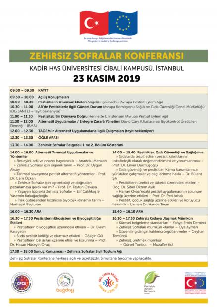 Zehirsiz Sofralar Uluslararası Konferansı